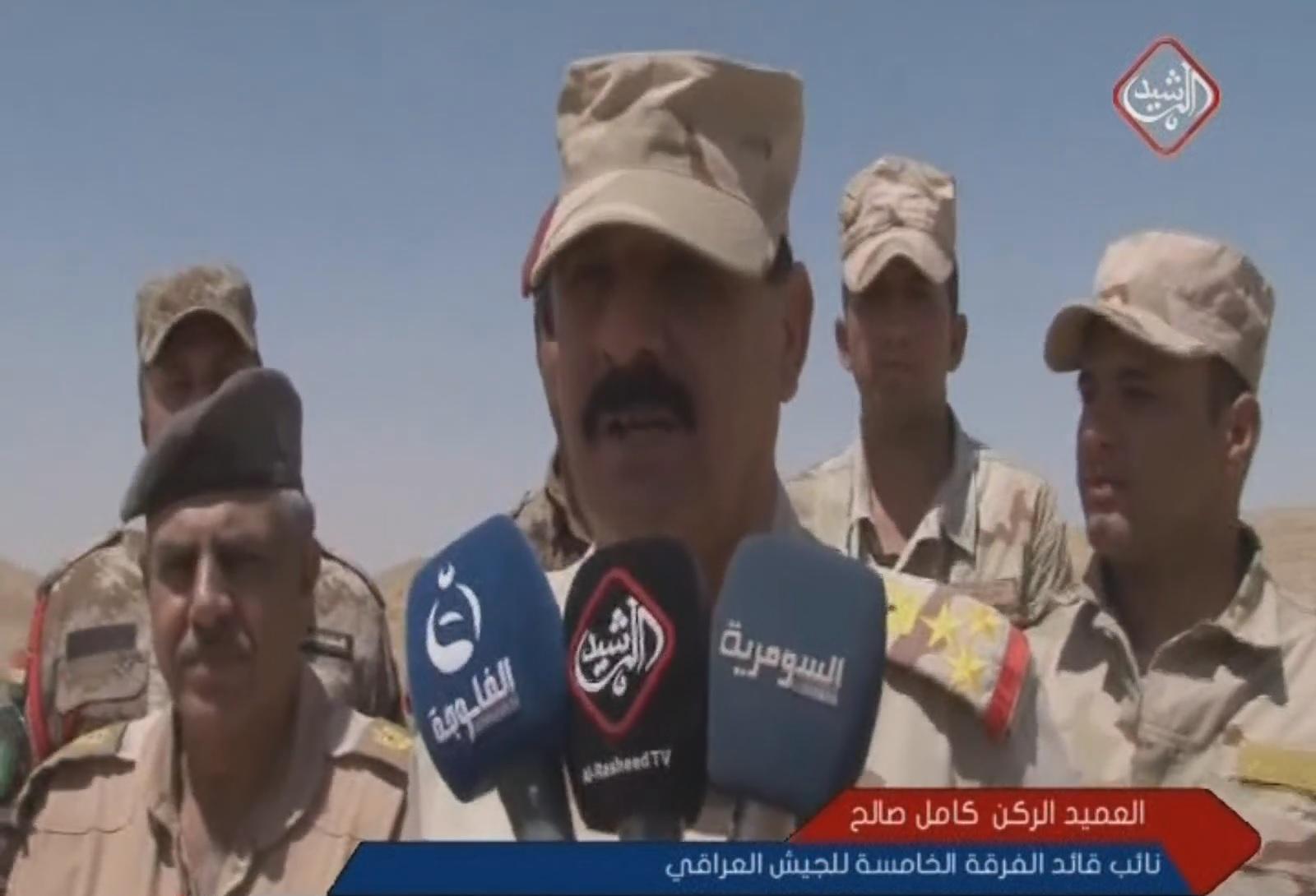 العميد الركن كامل صالح نائب قائد الفرقة الخامسة للجيش العراقي