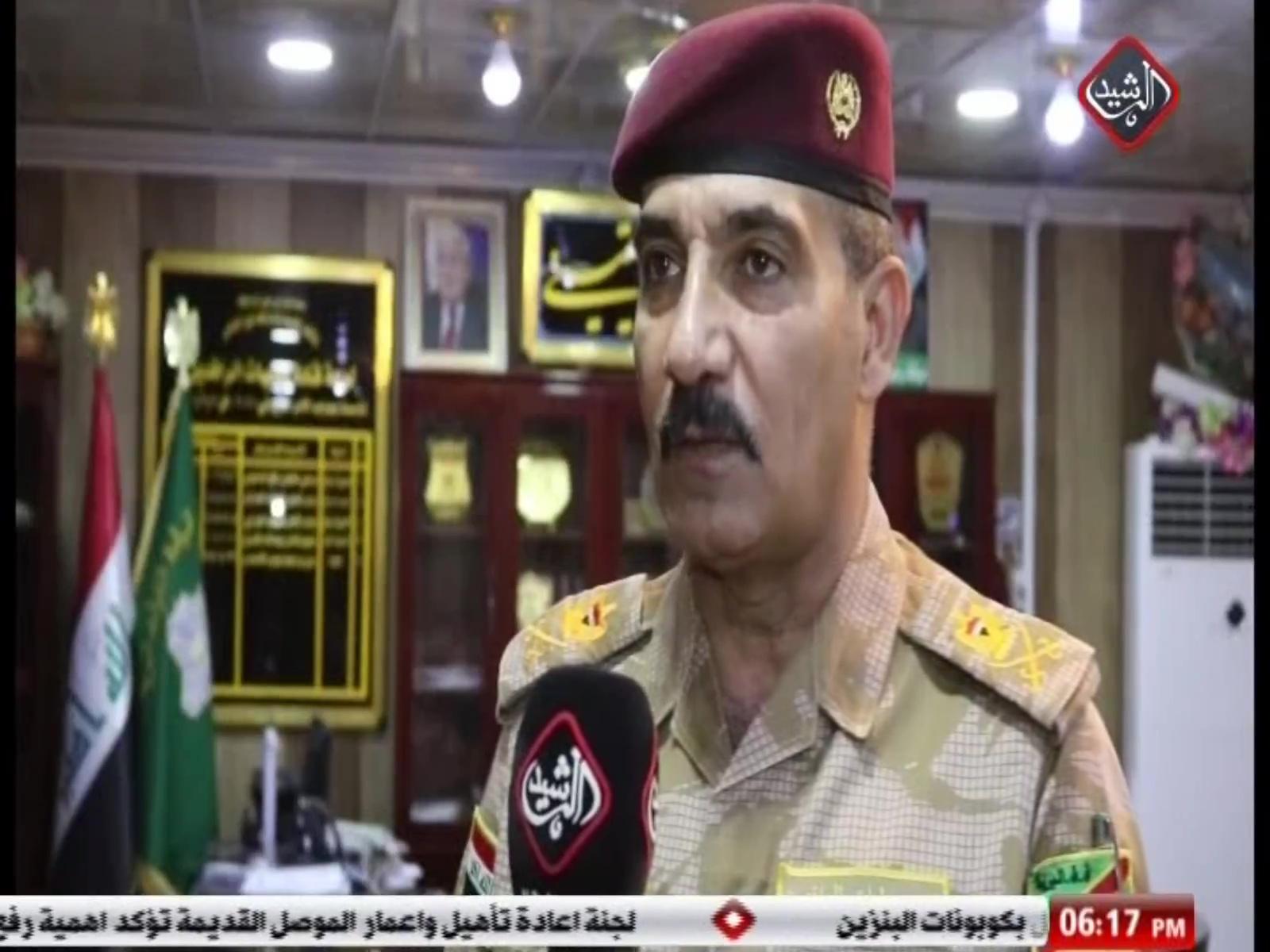 قائد عمليات الرافدين اللواء علي ابراهيم للرشيد