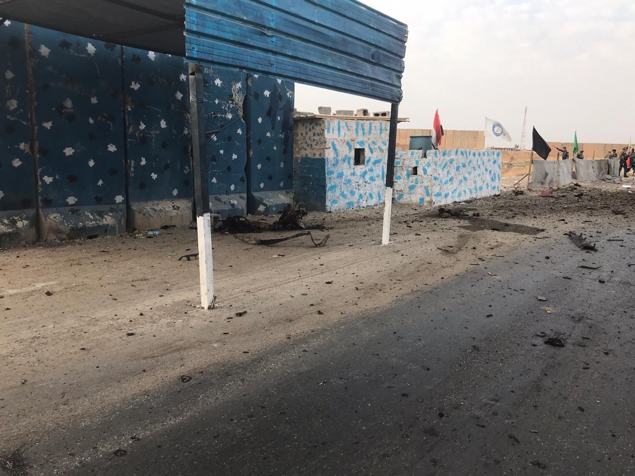 بعد يوم من زيارة رئيس جهاز الامن الوطني انتحاري من داعش الارهابي يفجر سيطرة جسر مريم في كركوك